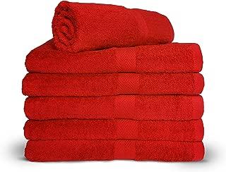 Royal Comfort Salsa Red 24x48 Bath Towels, 9.0 Lbs per dz, Combed Cotton. Sold as 6 Towels per Pack.