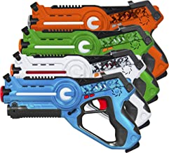 Best Choice Products Infrared Laser Tag Blaster Set for Kids & Adults w/ Multiplayer Mode, 4 Pack