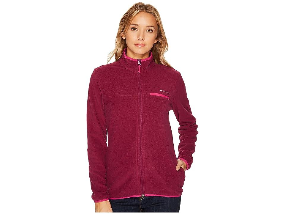 Columbia Mountain Crest Full Zip (Dark Raspberry/Deep Blush) Women