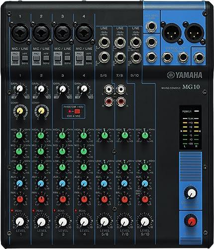 Yamaha MG10 - Console de mixage compacte avec 10 canaux d'entrée et préamplis micro D-PRE