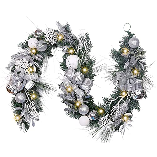 Silver And White Christmas Decorations Amazon Com