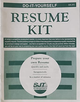 Resume Kit Book And Disk Do It Yourself David J Cillian