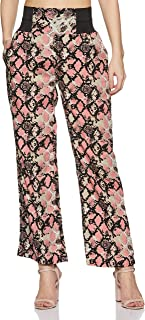 KRAVE Women's Animal Print Relaxed Pants