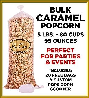 Gourmet Pops Corn BULK/WHOLESALE CARAMEL POPCORN- 5 GAL-80 CUPS-95 OZ- FREE SCOOPER!!