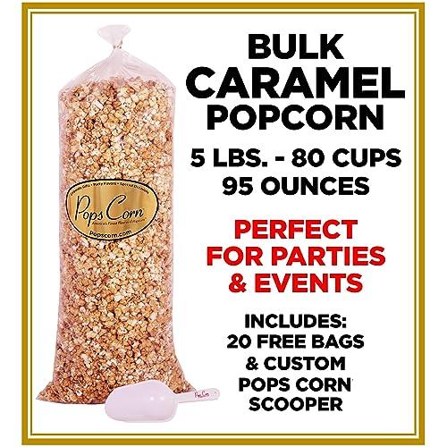 Gourmet Pops Corn BULK WHOLESALE CARAMEL POPCORN- 5 GAL-80 CUPS-95 f0872b4eac5c4