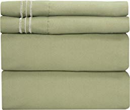 Queen Size Sheet Set - 4 Piece Set - Hotel Luxury Bed Sheets - Extra Soft - Deep Pockets - Easy Fit - Breathable & Cooling - Wrinkle Free - Comfy – Sage Green Bed Sheets - Queens Sheets – 4 PC