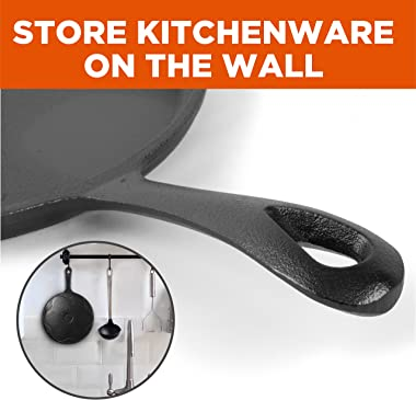 Commercial Chef Round Cast Iron Griddle Pan 3-Piece Set – 8-inch, 10-inch, and 12-inch - Pre-seasoned Griddle Cast Iron Cookw