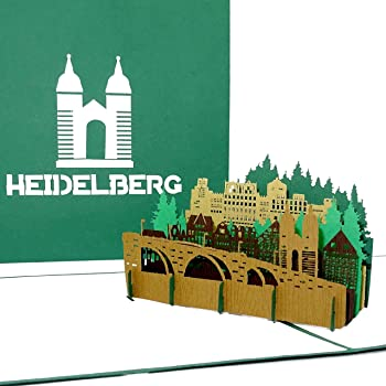 Pop Up Karte Heidelberg Alte Brucke Heidelberger Schloss 3d Grusskarte Als Souvenir Geschenk Geburtstagskarte Einladung Zur Stadtereise Amazon De Burobedarf Schreibwaren