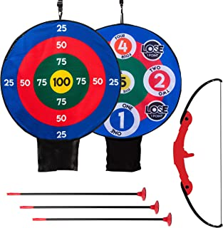 Franklin Sports Kids Archery Target Set - 1 Bow, 3 Self-Stick Arrows - Over The Door - Height-Adjustable Target - Perfect ...