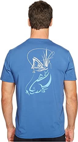 Vineyard Vines - Short Sleeve Perf Red Fish Fly Tee