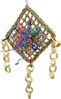 Bonka Bird Toys 1723 Four Corners Parrot cage Toys Cockatiel African Grey Foraging. Quality Product Made in USA