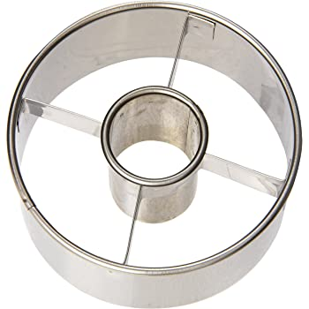 Harold Import Company Ateco 3-1/2-Inch Stainless Steel Doughnut Cutter, Silver