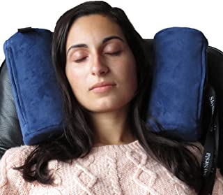 Skysiesta (Blue) Travel Pillow with Foam Head Supports Bag Adjustable Eye Mask