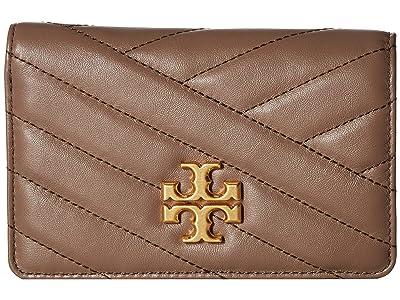 Tory Burch Kira Chevron Medium Slim Wallet (Classic Taupe) Wallet Handbags