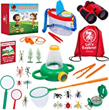 AMDVibes Kids Explorer Kit 25-Pack Kids Outdoor Kit, The Complete Set of Kids Bug Catcher Kit for Kids and Outdoor Explorer Kit for Kids, All-Inclusive Explorer Kits for Boys Girls Age 3-12 Year Old