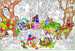 "Gnome Home - Giant Wall Size Coloring Poster - 32.5"" X 22""(Great for Family Time, Adults, Kids, Classrooms, Care Facilities and Group Activities - Includes Reusable Rigid Storage Tube)"