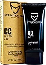 CC Cream for Men by Strictly Man Supply Co. | 7 in 1 Tinted Face Moisturizer for Men |..