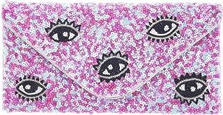 From St Xavier Women's I SPY Clutch, Pink/Blue, One Size