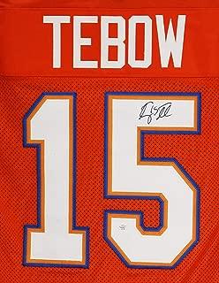 Tim Tebow Florida Gators Signed Autographed Orange #15 Custom Jersey PAAS COA