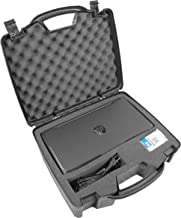 Casematix Portable Printer Carry Case Compatible with HP Officejet 200 Wireless Mobile Printer ,62 Ink Cartridge and Cables