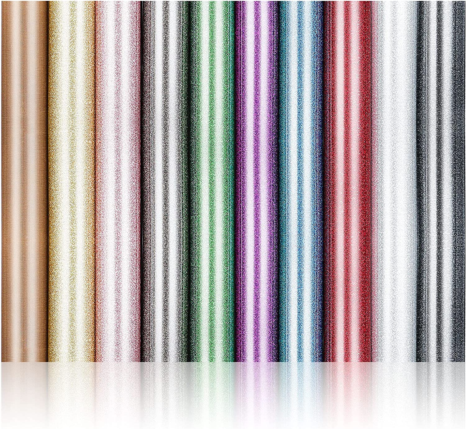 Glitter Heat Transfer Vinyl Sheets H 10 Colors Assorted Max 71% OFF 9 OFFer
