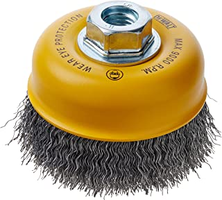 DEWALT DW49161 4-Inch by 5//8-Inch-11 XP .014 Stainless Knot Wire Cup Brush
