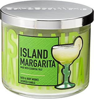 Bath and Body Works 3 Wick Scented Candle Island Margarita 14.5 Ounce