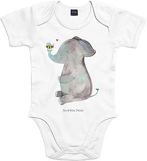 Mr. & Mrs. Panda Mr. & Mrs. Panda Strampler, Babysuit, 3-6 Monate Baby Body Elefant & Biene - Farbe Transparent