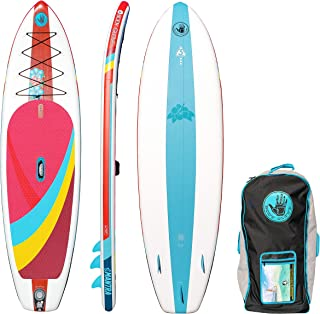 Body Glove Mantra Inflatable Stand-Up Paddleboard, Red/Blue, 10'6