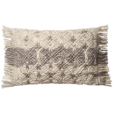 Loloi P0611 Pillow Cover with Down Fill, 13  x 21 , Multi