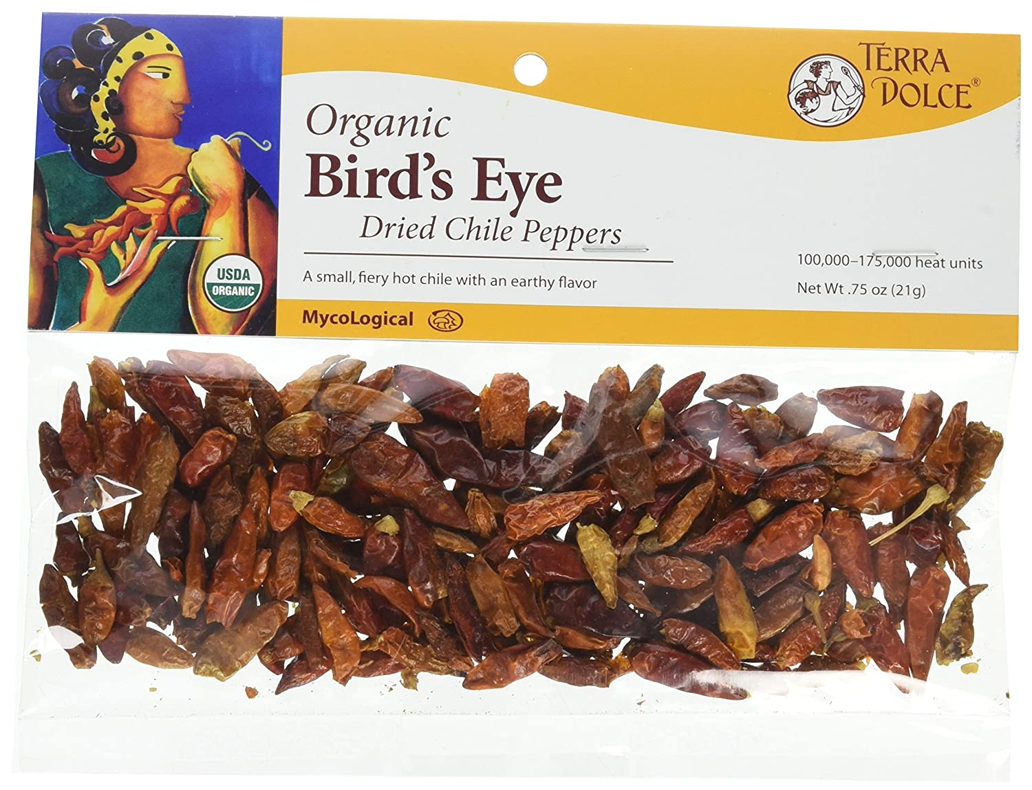 Terra Dolce All items in the store Regular store Organic Bird's Eye Chiles Pack of 6 Ounce 0.75