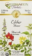 CELEBRATION HERBALS Elder Flowers Tea Organic 24 Bag, 0.02 Pound