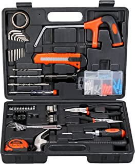 Black+Decker 108 Pieces Hand Tool Kit for Home & Office, Orange/Black - BMT108C, 2 Years Warranty