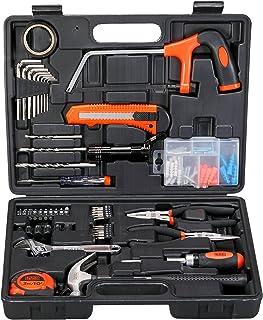 مجموعة أدوات يدوية من 108 قطعة للمنزل والمكتب، برتقالي/أسود - BMT108C