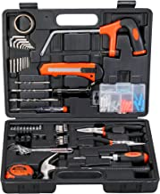 Black+Decker Hand Tool Kit (108-Piece), Orange and Black