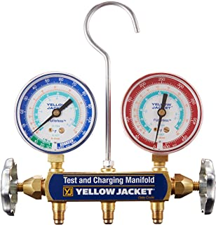 Yellow Jacket 41312 Manifold Only with 2-1/2 Steel Case Gauges, psi, R-134A/404A/507