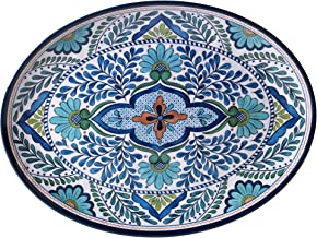"Certified International Talavera Melamine 18"" x 13.5"" Oval Platter, Multicolor"