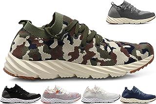 CROSSMONT Men's Forward Ultra Lightweight Comfort Walking Shoes Breathable Slip on Fashion Sneakers
