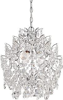 Minka Lavery Crystal Chandelier Pendant Lighting 3150-77, Mini 1 Tier Dining Room, 3 Light, Chrome
