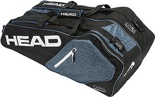 HEAD Core 6R Combi - Bolsa de Tenis, Color Negro y Gris