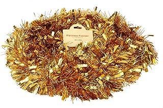 Christmas Concepts 4 Metre Chunky/Fine Christmas Tinsel - Christmas Decoration Tinsel (Gold)