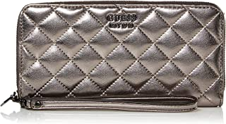 GUESS Miriam Pewter Large Zip Around Wallet