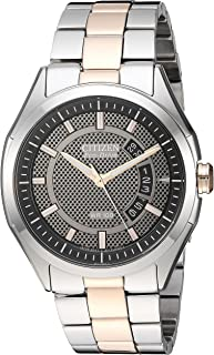 Drive from Citizen Eco-Drive Men's Silver/Rose Gold-Tone Watch with Date, AW1146-55H