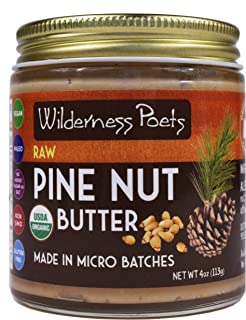 Wilderness Poets Pine Nut Butter, Raw & Organic (4 Ounce)