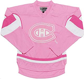 Outerstuff Montreal Canadiens Infants Toddler Pink Girls Team Logo Replica Jersey