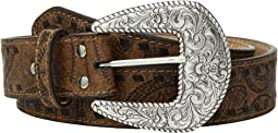Embossed with Tonal Laced Edges Belt
