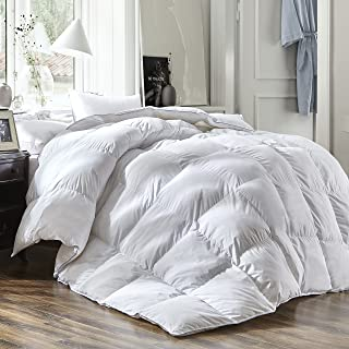 Luxury Queen Size White Goose Down Feather Comforter Duvet Insert 600 Thread Count..
