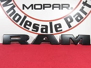 2019 DODGE RAM Matte Black RAM Grille Nameplate NEW OEM MOPAR