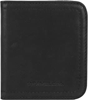 Travelon Women's RFID Blocking Leather Bifold Card Case, Black, One Size