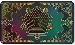 Paramint Mana Blast - MTG Playmat - Perfect for Magic The Gathering, Pokemon, YuGiOh, Anime - TCG Card Game Table Mat - Durable, Thick, Cloth Fabric Top with Rubber Bottom by Daniel Ziegler